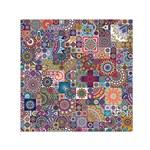 Ornamental Mosaic Background Small Satin Scarf (Square) Front