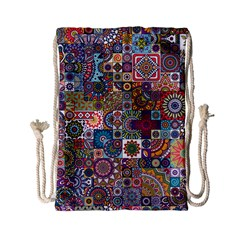 Ornamental Mosaic Background Drawstring Bag (Small)