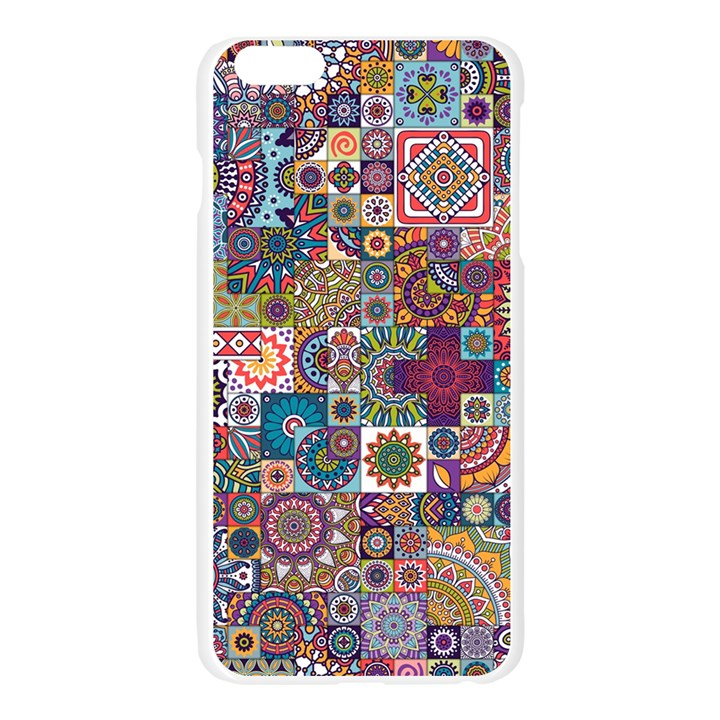 Ornamental Mosaic Background Apple Seamless iPhone 6 Plus/6S Plus Case (Transparent)