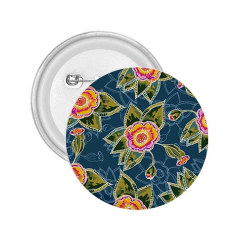 Floral Fantsy Pattern 2.25  Buttons