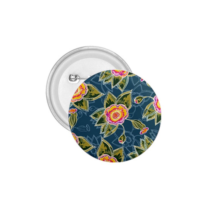 Floral Fantsy Pattern 1.75  Buttons