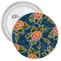 Floral Fantsy Pattern 3  Buttons