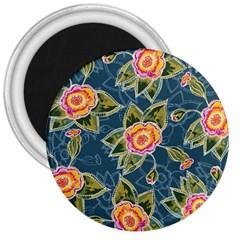 Floral Fantsy Pattern 3  Magnets