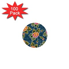 Floral Fantsy Pattern 1  Mini Buttons (100 Pack)