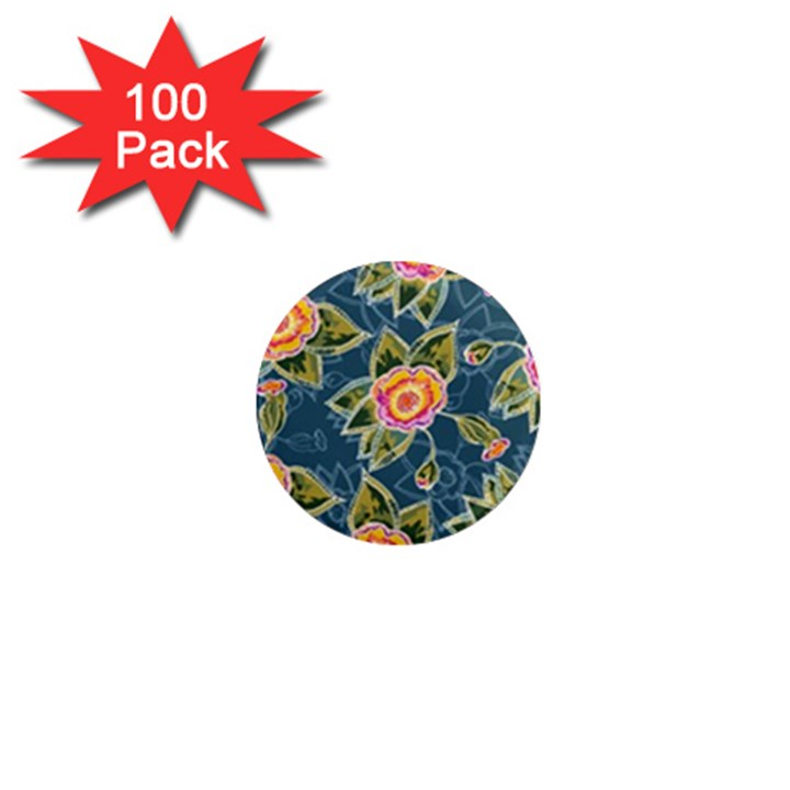 Floral Fantsy Pattern 1  Mini Magnets (100 pack)