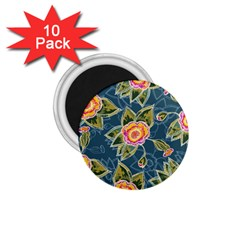 Floral Fantsy Pattern 1 75  Magnets (10 Pack)