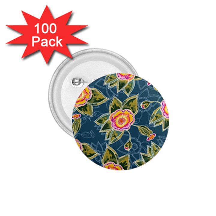 Floral Fantsy Pattern 1.75  Buttons (100 pack)