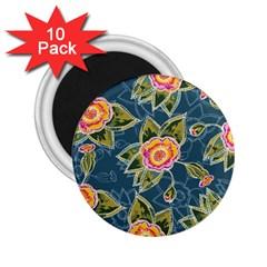 Floral Fantsy Pattern 2 25  Magnets (10 Pack)