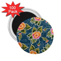 Floral Fantsy Pattern 2 25  Magnets (100 Pack)