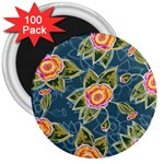 Floral Fantsy Pattern 3  Magnets (100 pack) Front