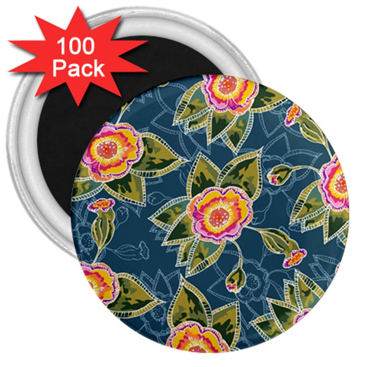 Floral Fantsy Pattern 3  Magnets (100 pack)