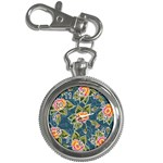 Floral Fantsy Pattern Key Chain Watches Front