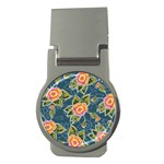 Floral Fantsy Pattern Money Clips (Round)  Front