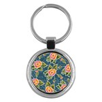 Floral Fantsy Pattern Key Chains (Round)  Front