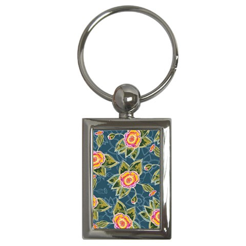 Floral Fantsy Pattern Key Chains (Rectangle)
