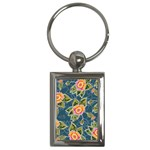 Floral Fantsy Pattern Key Chains (Rectangle)  Front