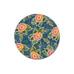 Floral Fantsy Pattern Magnet 3  (Round) Front