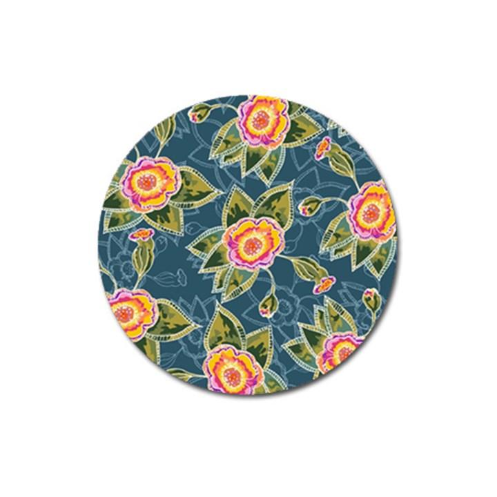 Floral Fantsy Pattern Magnet 3  (Round)