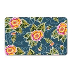 Floral Fantsy Pattern Magnet (Rectangular)
