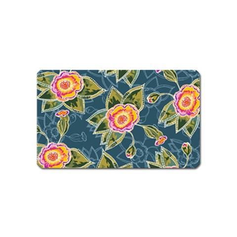 Floral Fantsy Pattern Magnet (Name Card)