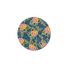 Floral Fantsy Pattern Golf Ball Marker