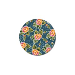 Floral Fantsy Pattern Golf Ball Marker (4 Pack)