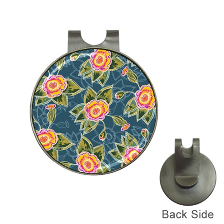Floral Fantsy Pattern Hat Clips with Golf Markers