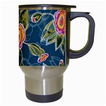 Floral Fantsy Pattern Travel Mugs (White) Right