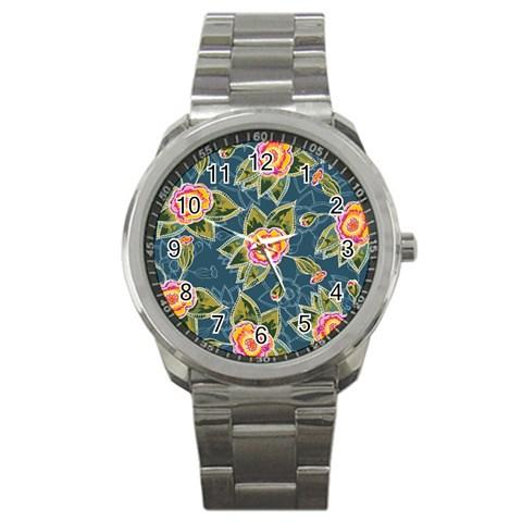 Floral Fantsy Pattern Sport Metal Watch