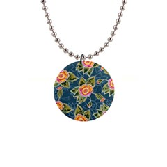 Floral Fantsy Pattern Button Necklaces