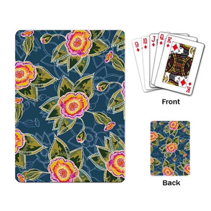 Floral Fantsy Pattern Playing Card