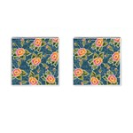 Floral Fantsy Pattern Cufflinks (Square) Front