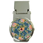 Floral Fantsy Pattern Money Clip Watches Front