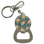 Floral Fantsy Pattern Bottle Opener Key Chains Front