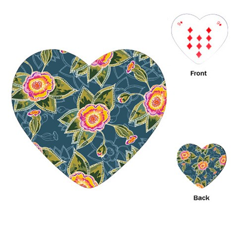 Floral Fantsy Pattern Playing Cards (Heart)