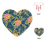 Floral Fantsy Pattern Playing Cards (Heart)  Front