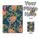 Floral Fantsy Pattern Playing Cards 54 Designs  Front - Heart6