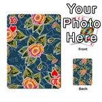 Floral Fantsy Pattern Playing Cards 54 Designs  Front - Heart10