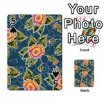 Floral Fantsy Pattern Playing Cards 54 Designs  Front - Spade5