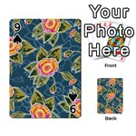 Floral Fantsy Pattern Playing Cards 54 Designs  Front - Spade9