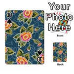 Floral Fantsy Pattern Playing Cards 54 Designs  Front - Spade10