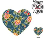 Floral Fantsy Pattern Playing Cards 54 (Heart)  Front - Heart6