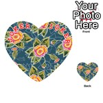 Floral Fantsy Pattern Playing Cards 54 (Heart)  Front - Joker2