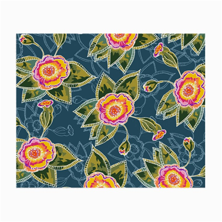 Floral Fantsy Pattern Small Glasses Cloth (2-Side)