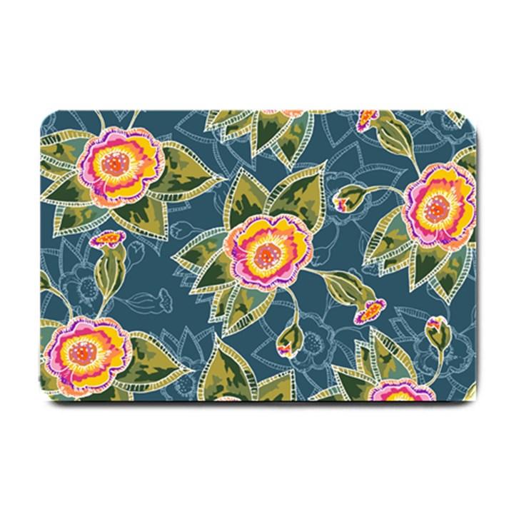 Floral Fantsy Pattern Small Doormat