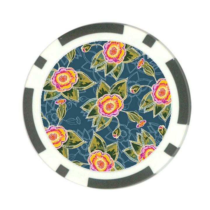 Floral Fantsy Pattern Poker Chip Card Guards