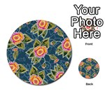 Floral Fantsy Pattern Multi-purpose Cards (Round)  Back 47