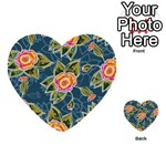 Floral Fantsy Pattern Multi-purpose Cards (Heart)  Front 30