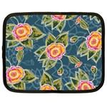 Floral Fantsy Pattern Netbook Case (Large) Front