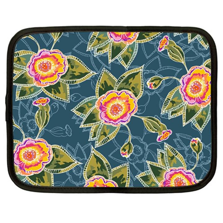 Floral Fantsy Pattern Netbook Case (Large)